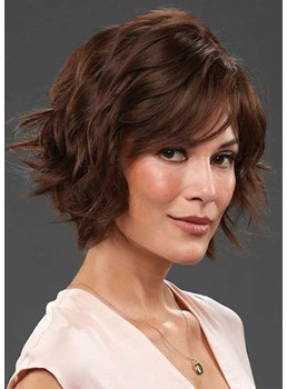 Short Layered Hairstyles Women's Wavy Synthetic Hair Capless Wigs 10Inch