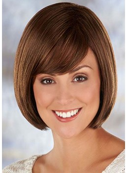 Women's Short Bob Hairstyle Straight Bob Synthetic Hair Capless Wigs 10Inch