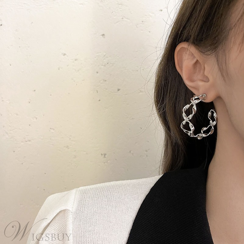Fashion Lady/Women's Alloy Material Plain Pattern Hoop Earrings For Prom/Party/Gift