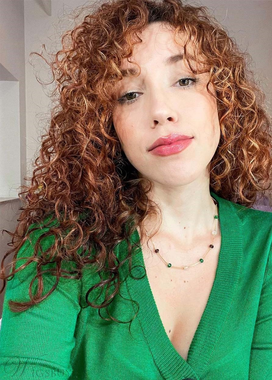 Fashion Women's Sexy Long Curly Brown Synthetic Hair Capless Wigs 24Inch