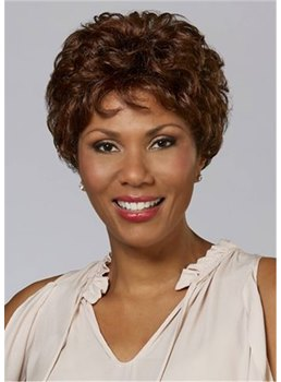 Short Shaggy Wavy Hairstyles Layered Synthetic Hair Capless Women's Wigs 8Inch