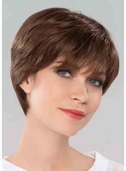 Lovely Women's Short Bob Hairstyles Straight Human Hair Capless Wigs With Bangs 8Inch