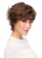 Fashion Women's Short Shaggy Layered Hairstyle Wavy Synthetic Hair Capless Wigs 12Inch