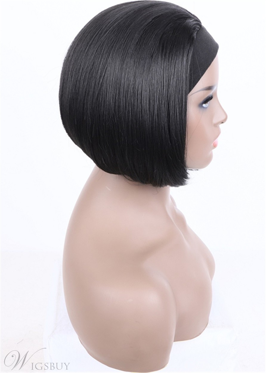 Headband Wig Bod Hairstyle Natural Straight Synthetic Hair Wigs