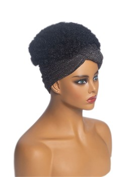 African American Headband Wig Afro Curly Synthetic Hair