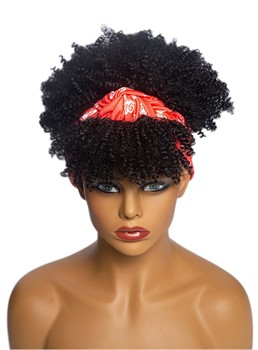 Headbang Wig Afro Curly Synthetic Hair African American Wig