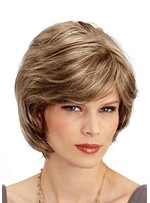 Women's Layered Short Hairstyles Naturally Wavy Synthetic Hair Capless Wigs 10Inch