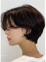 Short Shaggy Bob Hairstyles Straight Synthetic Hair Capless Wigs 10Inch