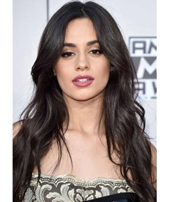 Camila Cabello's Face-Framing Layers Style Women's Wavy Human Hair Capless Wigs 26Inch