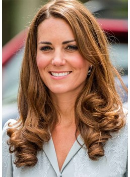 Kate Middleton's Barrel Curls Style Women's Loose Wavy Synthetic Hair Capless Wigs 26Inch
