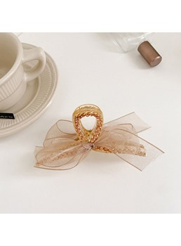 Korean Style Women's Bowknot Pattern Rhinestone Hair Claw Accessories For Party