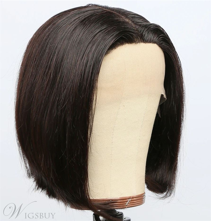 Bob Hairstyle Middle Part Natraul Straight Synthetic Hair Capless Wigs For African American Women