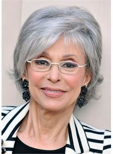 Short Hairstyles Straight Human Hair Wig For Older Women