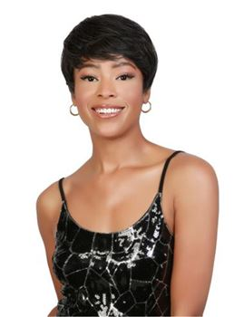 Short Cut Hairstyle Layered Straight Synthetic Hair Capless Women Wig