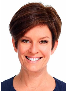 Women's Long Pixie With Layered Bangs Straight Synthetic Hair Capless Wigs 8Inch
