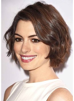Sexy Fashion Women's Short Layered Wavy Hairstyle Elgant Style Synthetic Hair Capless Wigs 12Inch