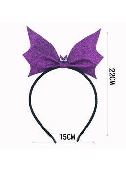 Women's European Halloween Style Cloth Bowknot Pattern HairBand For Party/Halloween