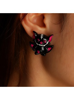 Women/Ladies European Style Plastic Material Stud Earrings For Halloween Party Gifts