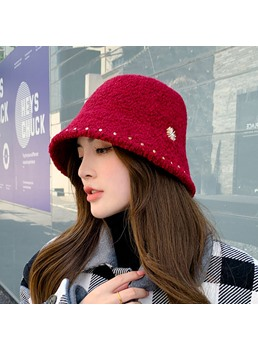 Casual Style Women's Patchwork Embellishment Brimless Dome Crown Bucket Hats