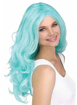 Women's Halloween Costumes Cosplay Wigs Colored Wavy Synthetic Hair Capless Wigs 24Inch