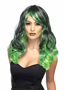 Halloween Costumes Cosplay Wigs Women's Colored Wavy Synthetic Hair Capless Wigs 22Inch