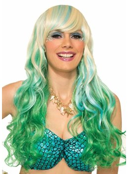Halloween Costumes Women's Cosplay Colored Wigs Wavy Synthetic Hair Capless Wigs 26Inch