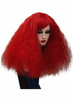 Women's Halloween Costumes Cosplay Wigs Afro Curly Synthetic Hair Capless Wigs 20Inch