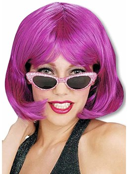 Women's Halloween Cosplay Short Bob Style Straight Synthetic Hair Capless Wigs 12Inch