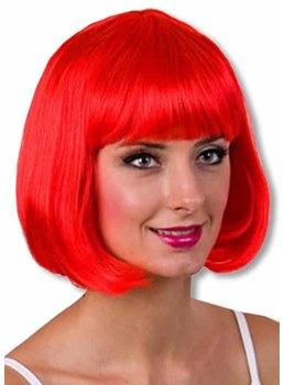 Halloween Cosplay Women's Short Bob Style Straight Synthetic Hair Capless Wigs 12Inch