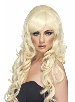 Halloween Cosplay Women's Long length Loose Wave Synthetic Hair Capless Wigs 26Inch
