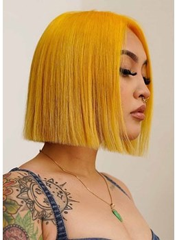 Sexy Women's Short Bob Hairstyles Straight Colored Bob Style Synthetic Hair Capless Wigs 12Inch