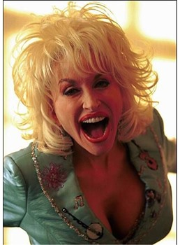 Vintage Funny Parton Dolly Hairstyles Layered Wavy Synthetic Hair Capless Wigs 14 Inches