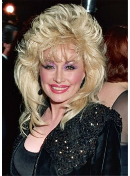 Dolly Parton's Changing Hairstyle Layered Wavy Synthetic Hair Capless Wigs 18Inch