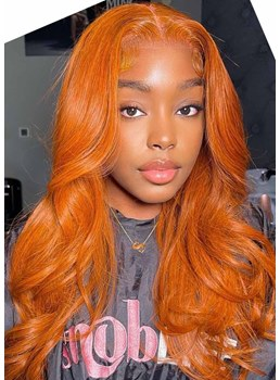 African American Women's Long Length Body Wavy Colored Human Hair Capless Wigs 24Inch