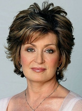 Layered Synthetic Hair Short Wavy 8 Inches Capless Wigs for Older Women