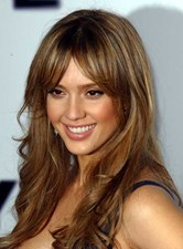 Jessica Alba Hot sale Long Atrractive Natural Light Brown 18 Inches Top Quality Synthetic Hair