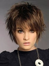 New Arrival Short Layered Straight Capless Synthetic Wig