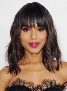 Kerry Washington Medium Loose Wavy Wigs Human Hair 14 Inches