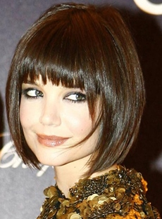 Classical Bob Wig Top Quality Black Natural Medium Straight Wig