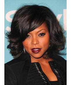 Taraji P Henson Smooth Premier Natural Medium Wave Lace Front Wig Synthetic Hair Wig 10 Inches