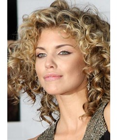 Loose Short Curly Front Lace Wigs Real Human Hair