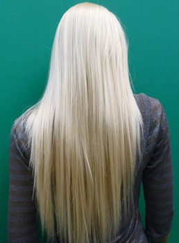 New Arrival Long Silky Straight Bleach Blonde Real Synthetic Hair 28 Inches Wig
