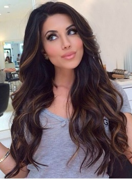 Classic Graceful Long Wave Lace Front Synthetic Wigs 24 Inches