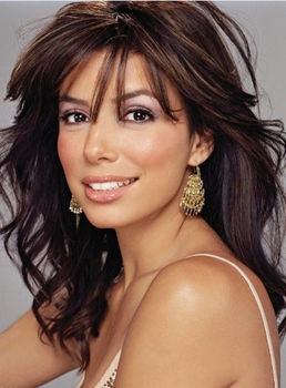 Custom Eva Longoria Hair Style Long Wavy 16 Inches Lace Hair Celebrity Wig