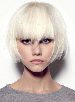 Stylish Dapper Short Rocker Hairstyle Fashionable Straight Blonde Wig with Special Layered Hair Cut