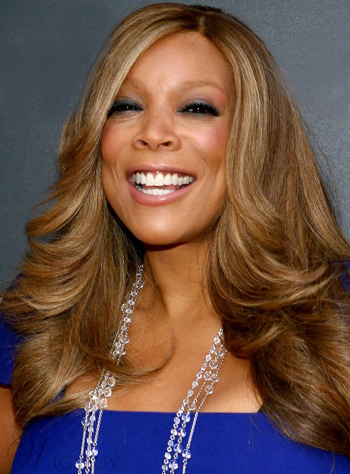 Hot Sale Graceful Wendy Williams Hairstyle 20 Inches 100% Human Hair Lace Wig