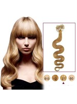 Strawberry Blonde 100s Wavy Human Hair Micro Loop Ring Hair Extensions
