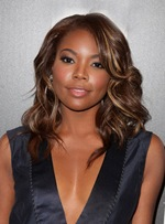 Gabrielle Union Popular Hairstyle Side Bang Medium Wave Synthetic Wigs 14 Inches