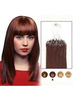 Human Hair Dark Auburn(#33) 100S Micro Loop Extensions