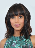 Handmade Kerry Washington Style Fashionable Pretty Top Quality Synthetic Hair Wig 12 Inches